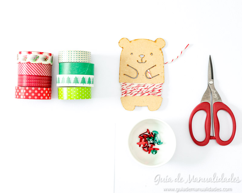 Molinillos navideños con cintas washi 2