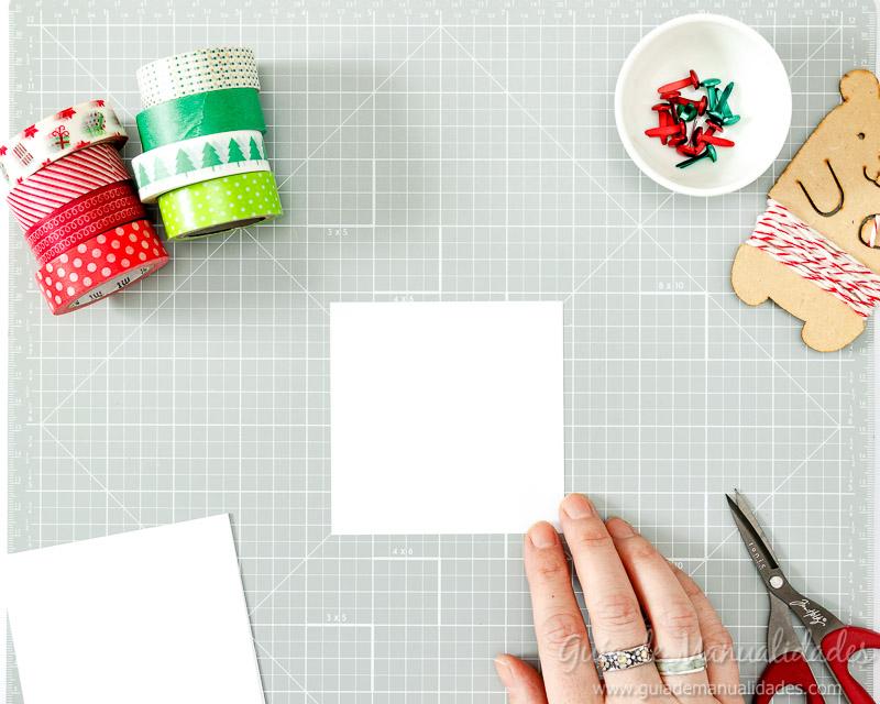 Molinillos navideños con cintas washi 3