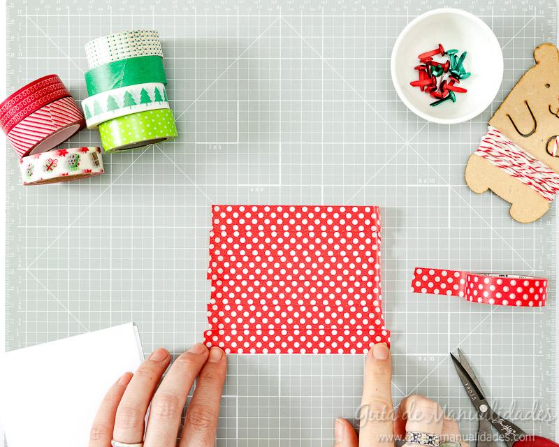 Molinillos navideños con cintas washi 4