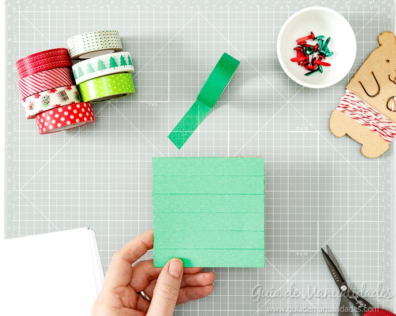 Molinillos navideños con cintas washi 5