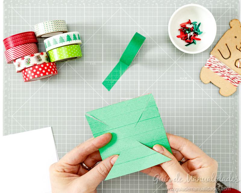 Molinillos navideños con cintas washi 6