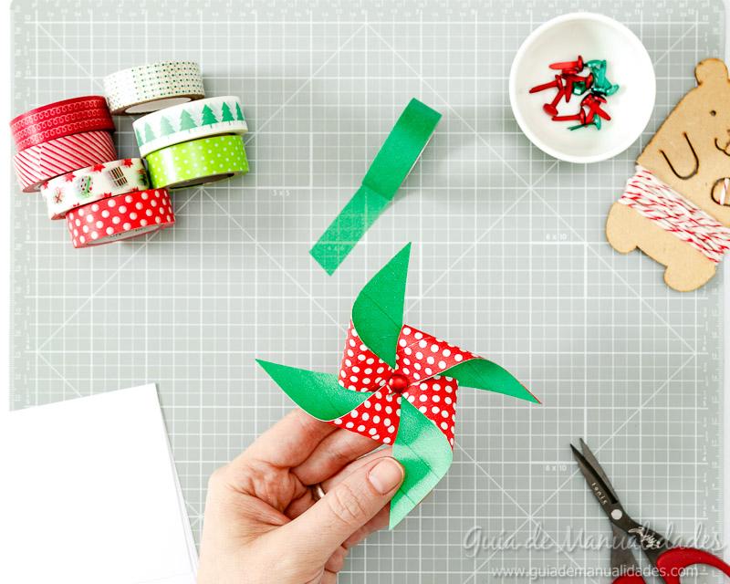 Molinillos navideños con cintas washi 7