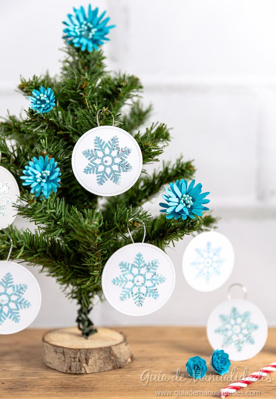 Adornos navideños copos de nieve 1