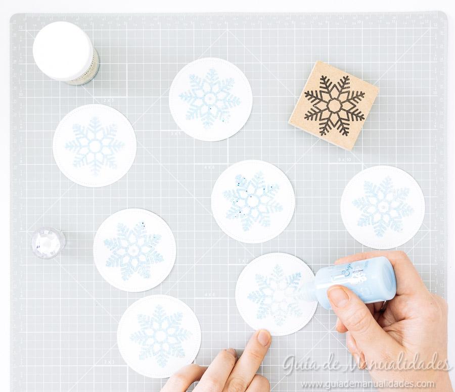 Adornos navideños copos de nieve 10