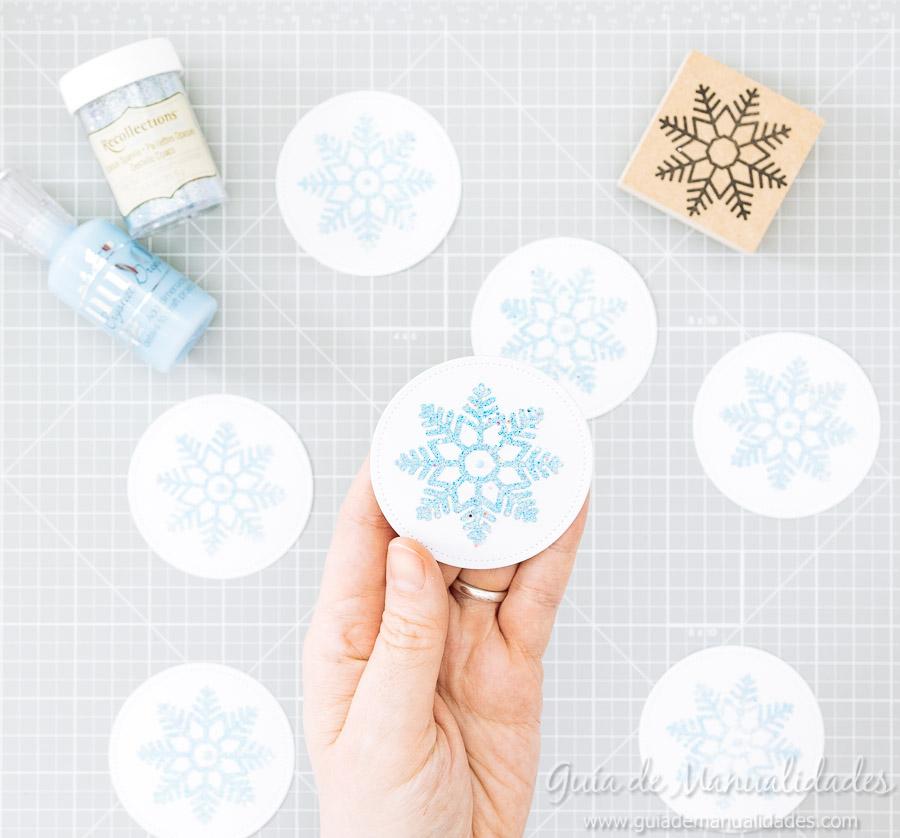 Adornos navideños copos de nieve 11