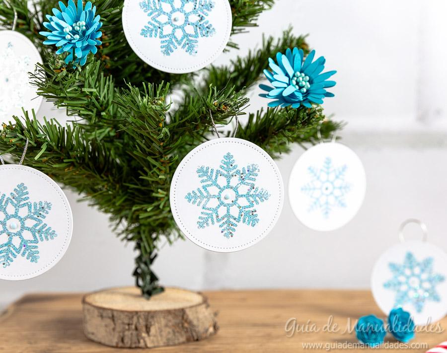 Adornos navideños copos de nieve 13