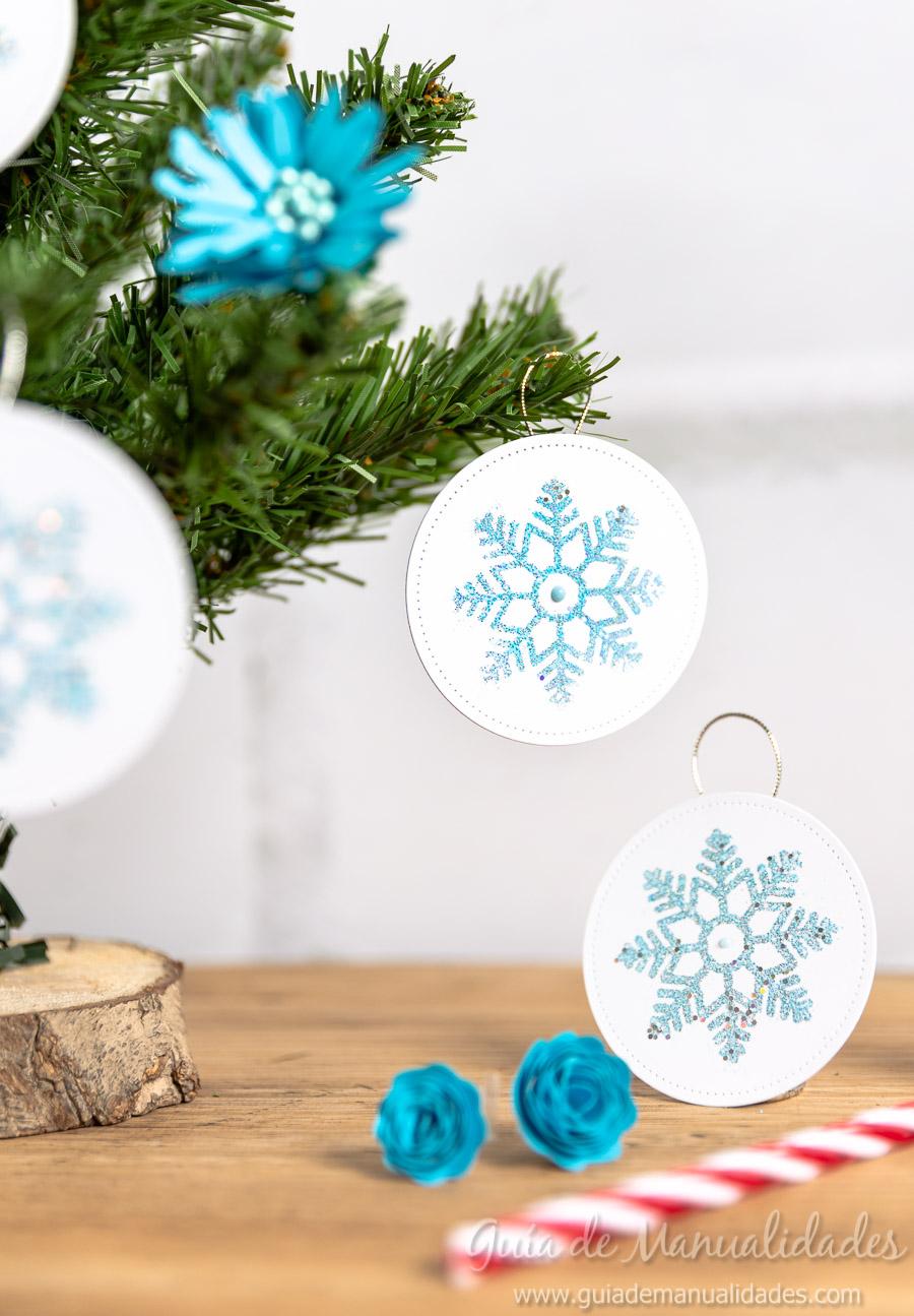 Adornos navideños copos de nieve 14