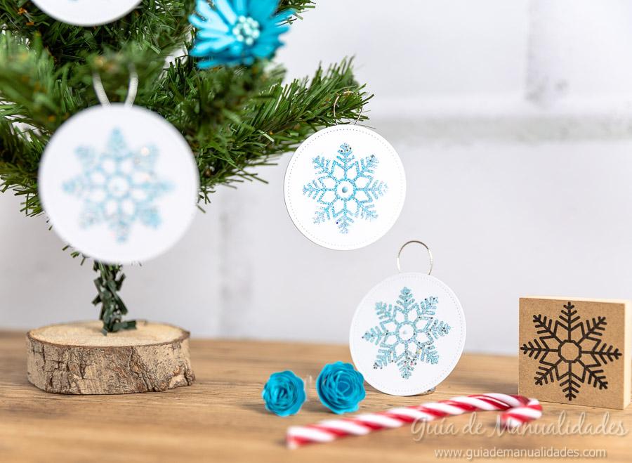 Adornos navideños copos de nieve 15