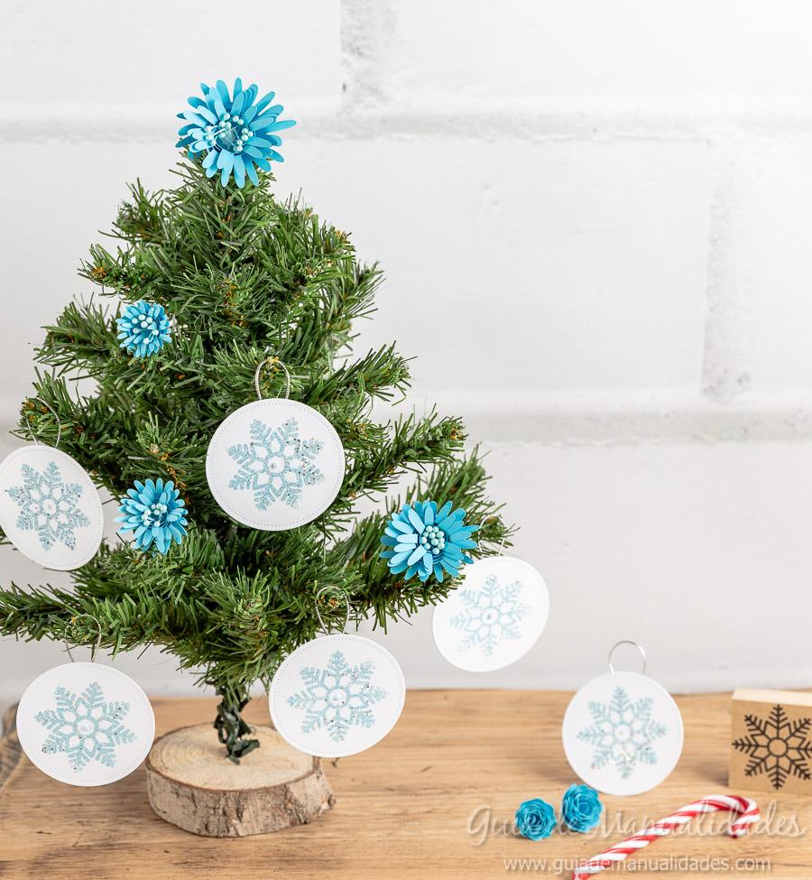 Adornos navideños copos de nieve 16