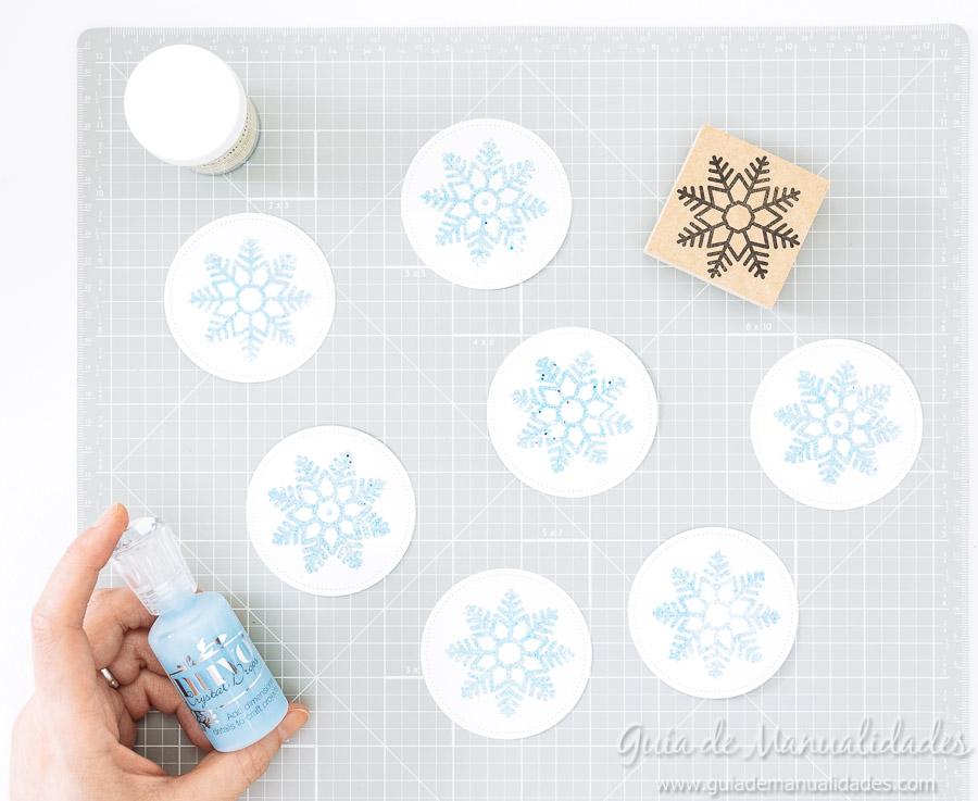 Adornos navideños copos de nieve 9