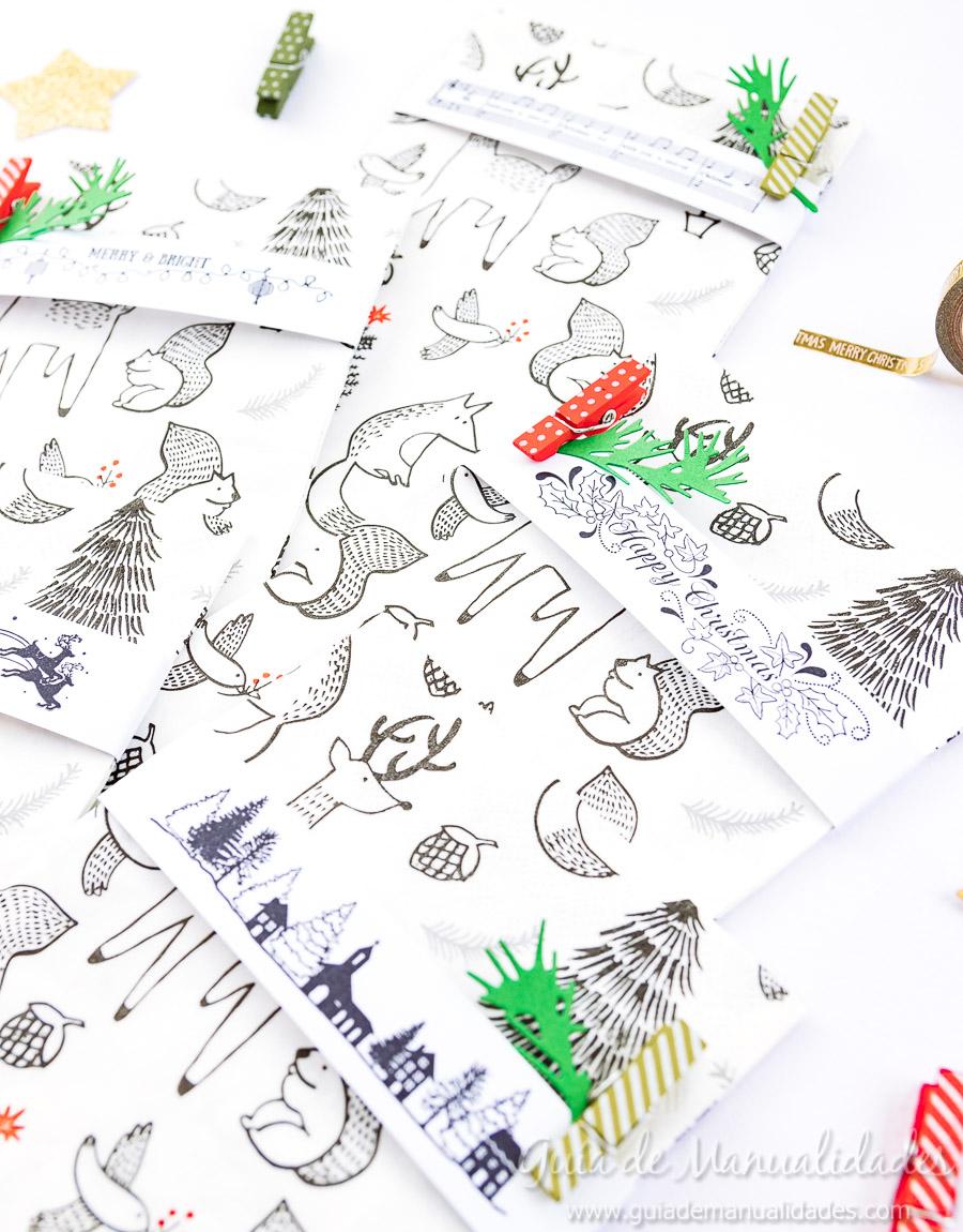 Servilleteros navideños con sellos 10