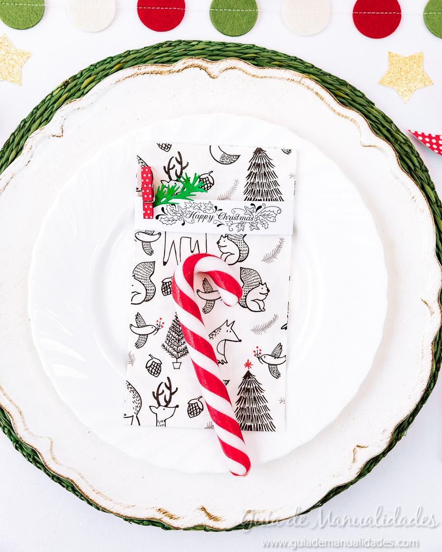 Servilleteros navideños con sellos 11