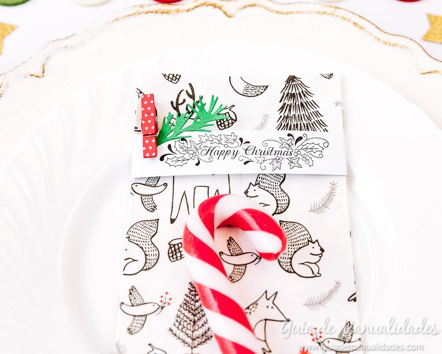 Servilleteros navideños con sellos 12