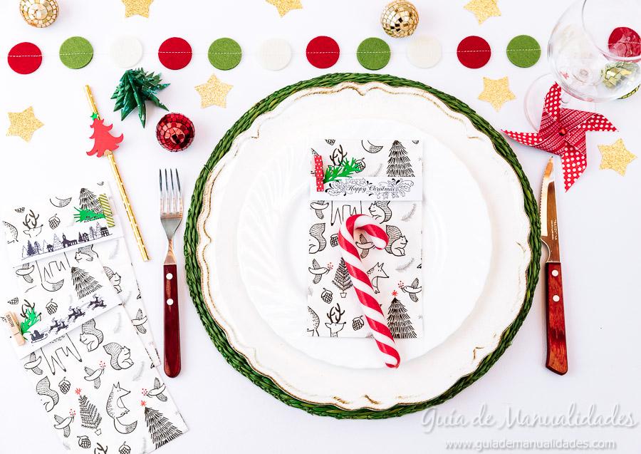 Servilleteros navideños con sellos 14