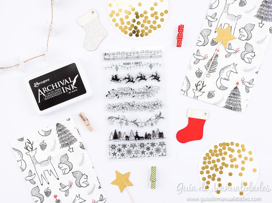 Servilleteros navideños con sellos 2