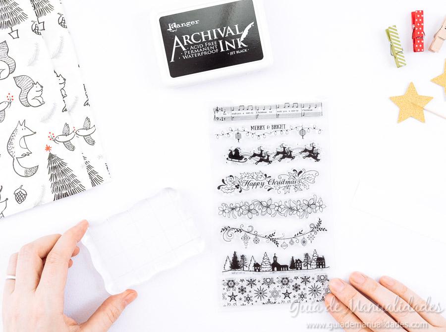 Servilleteros navideños con sellos 3