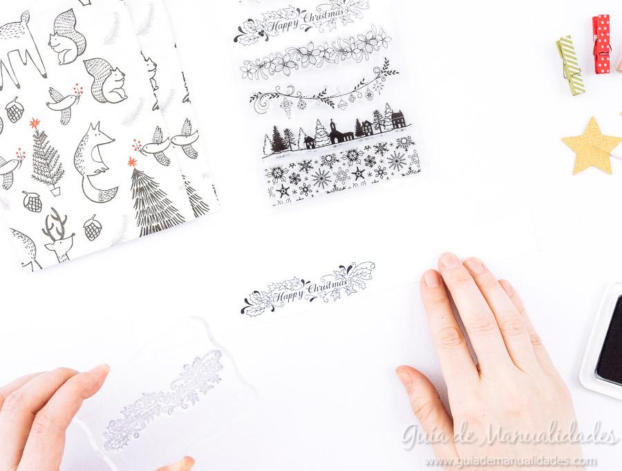 Servilleteros navideños con sellos 4