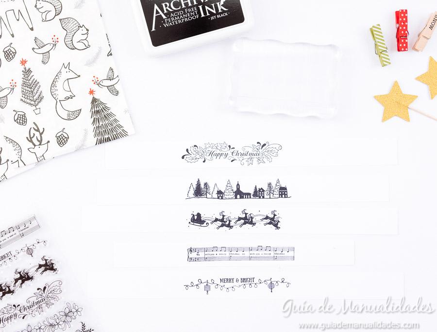 Servilleteros navideños con sellos 5