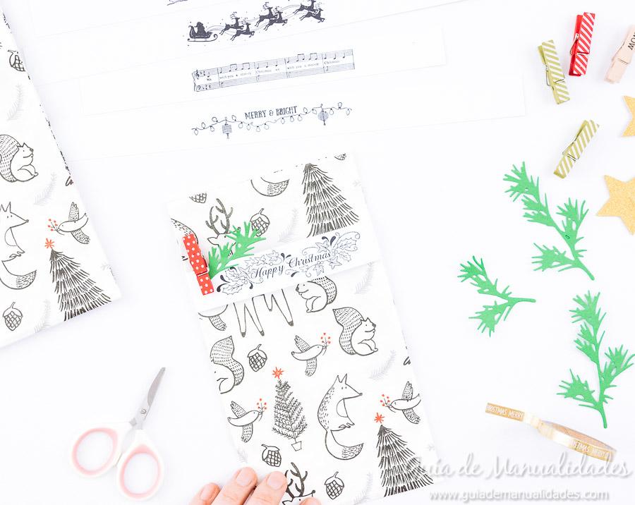 Servilleteros navideños con sellos 8