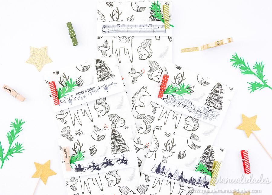 Servilleteros navideños con sellos 9