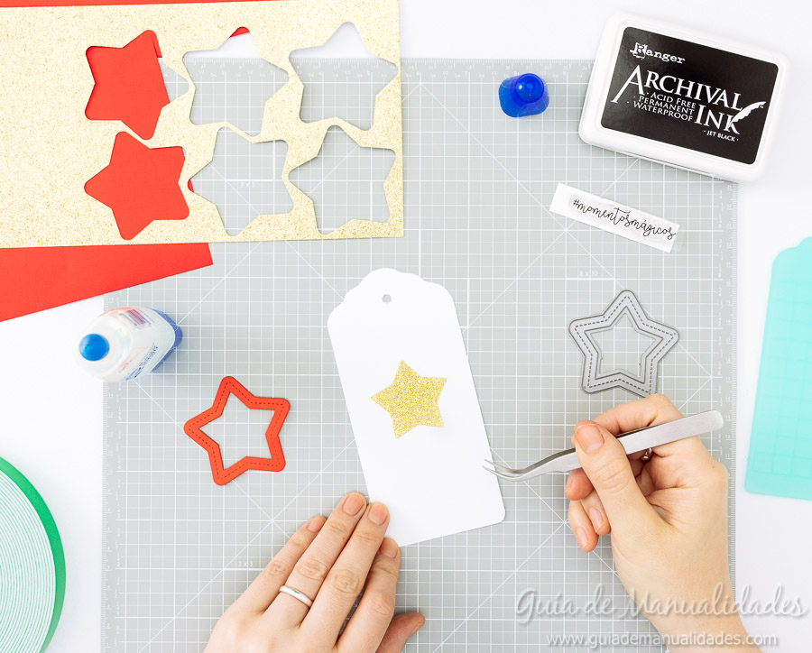 Tags navideñas DIY 8
