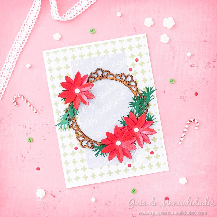 tarjeta navideña diy 1
