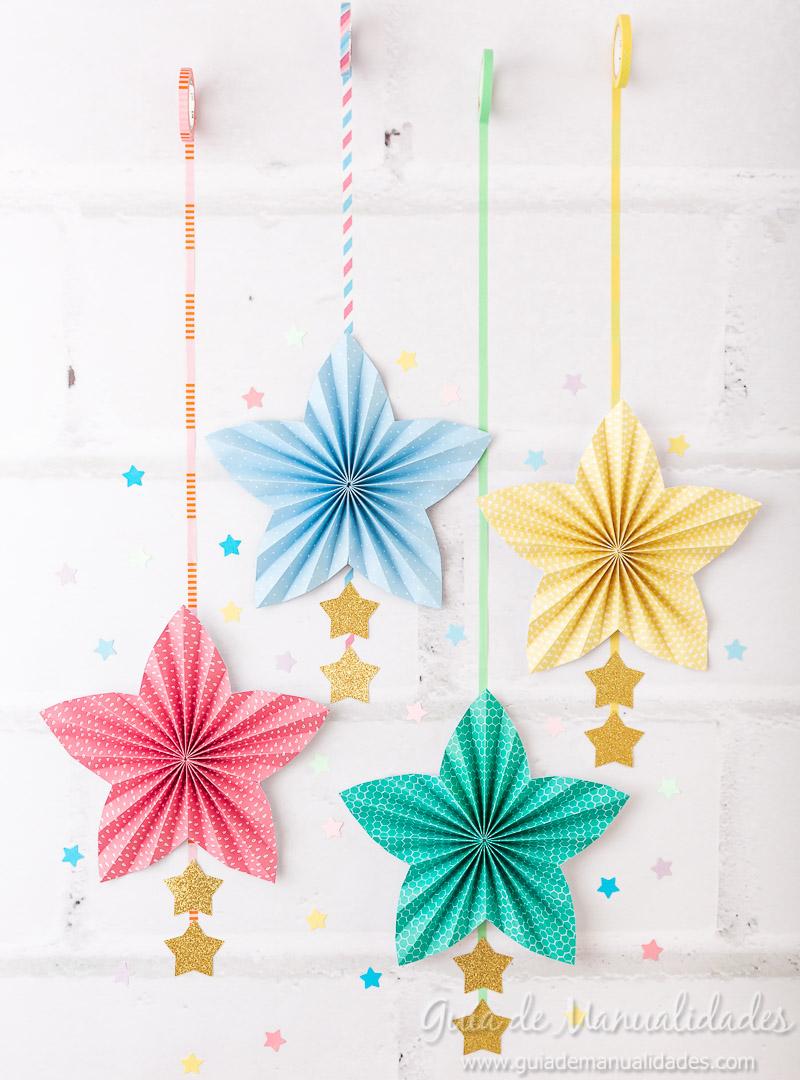 Cómo hacer una roseta estrella de papel 1