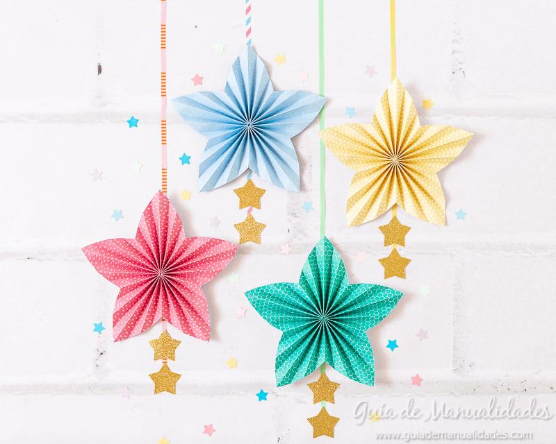 Cómo hacer una roseta estrella de papel 17