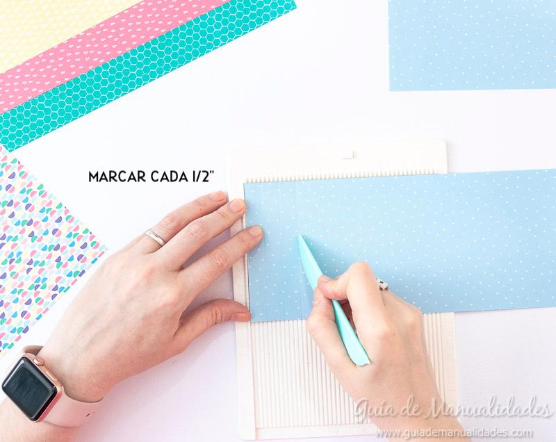 Cómo hacer una roseta estrella de papel 6