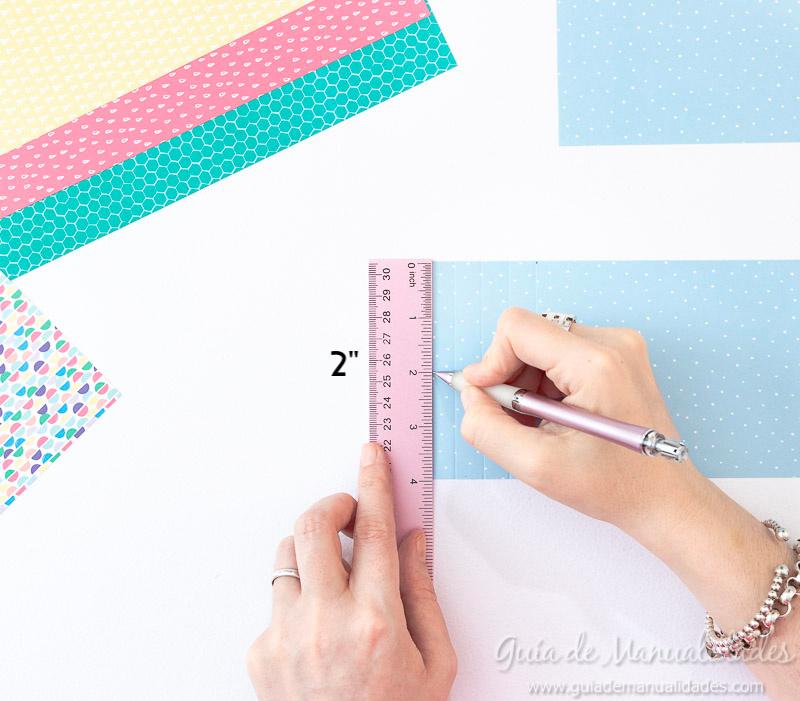 Cómo hacer una roseta estrella de papel 8