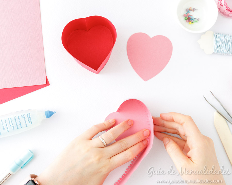 Cajita corazón DIY 7
