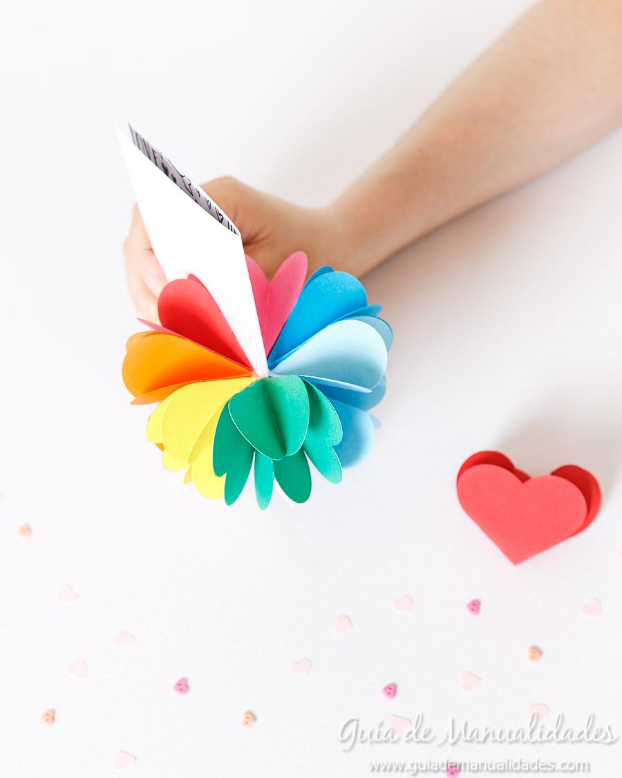 Tarjeta pop up corazones San Valentin 20