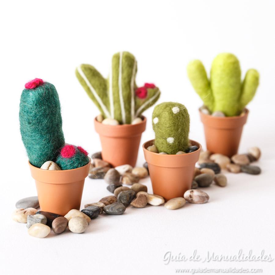 Cactus de fieltro DIY 1