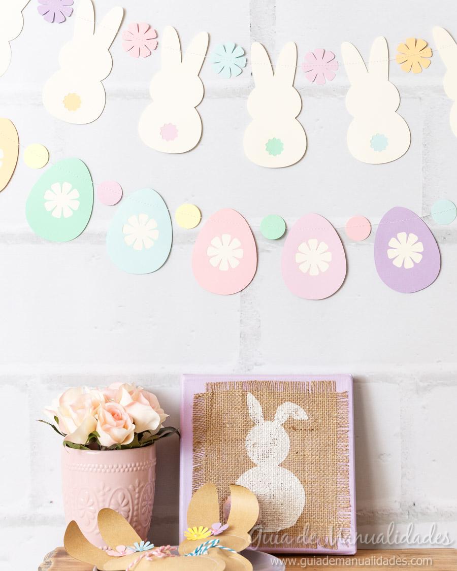 Guirnaldas conejitos y huevos de pascua 1