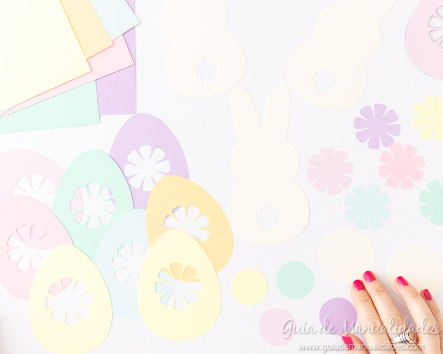 Guirnaldas conejitos y huevos de pascua 4