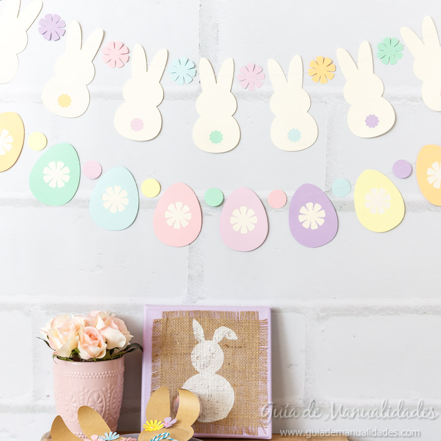 Guirnaldas conejitos y huevos de pascua 9