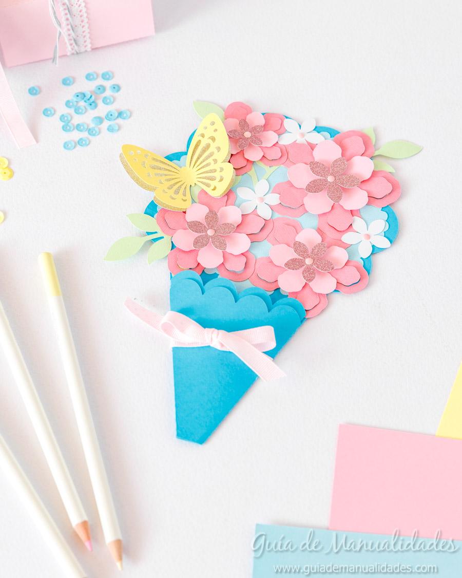 Tarjeta DIY ramo de flores 1