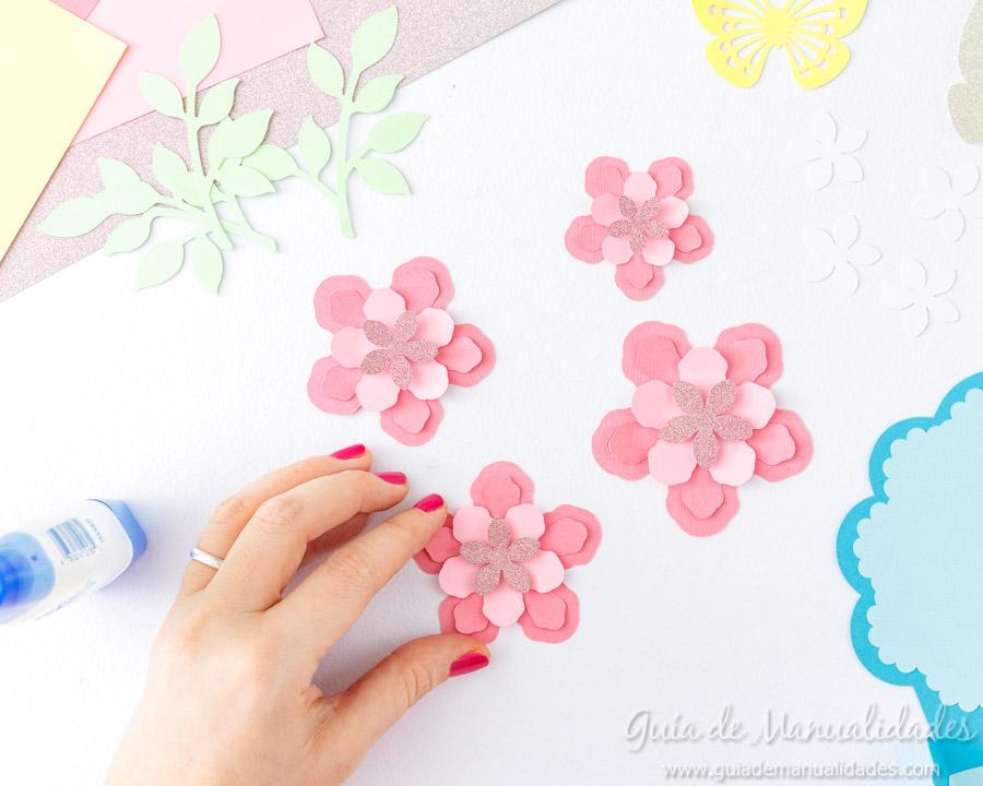 Tarjeta DIY ramo de flores 10