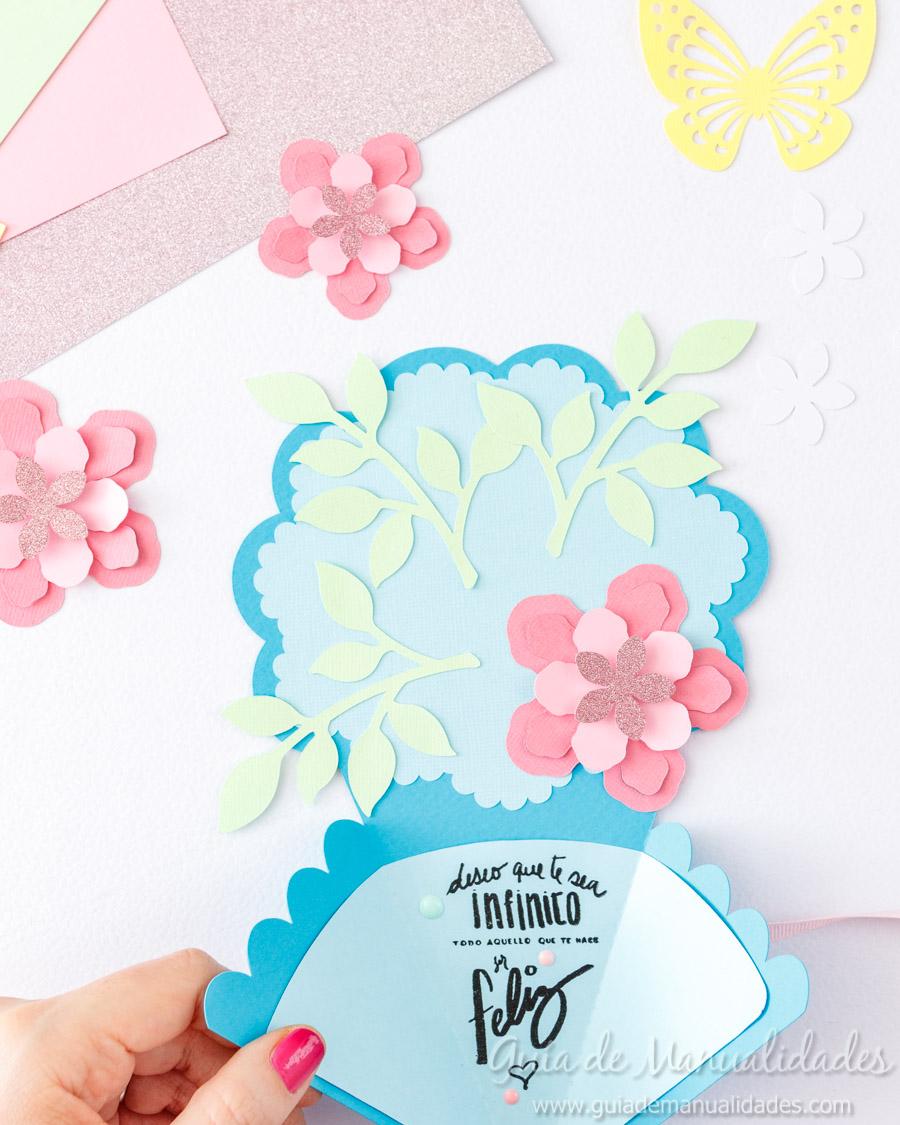 Tarjeta DIY ramo de flores 11