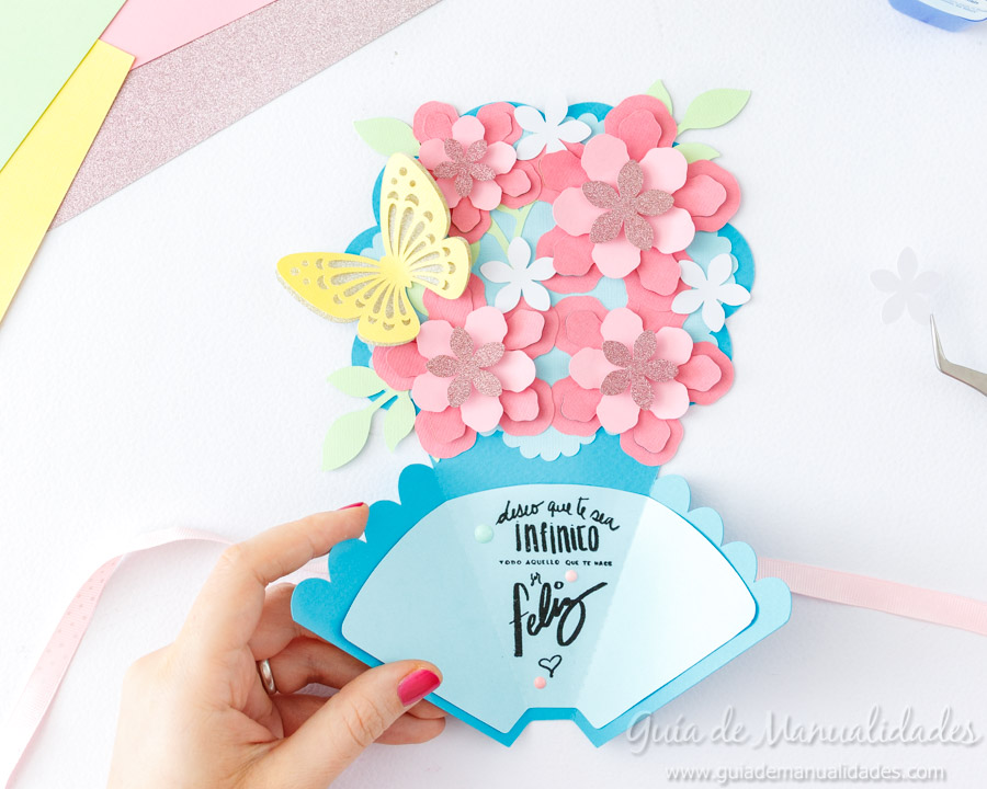 Tarjeta DIY ramo de flores 12