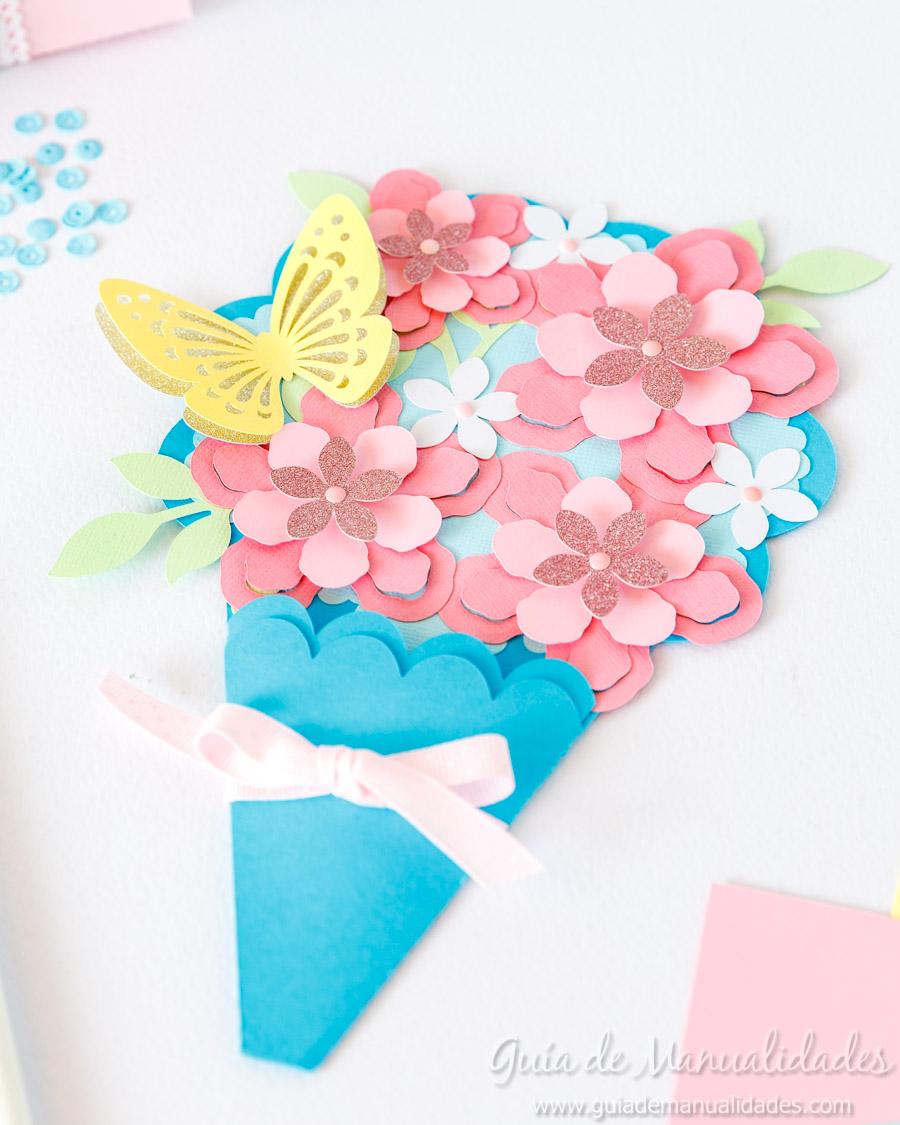 Tarjeta DIY ramo de flores 14