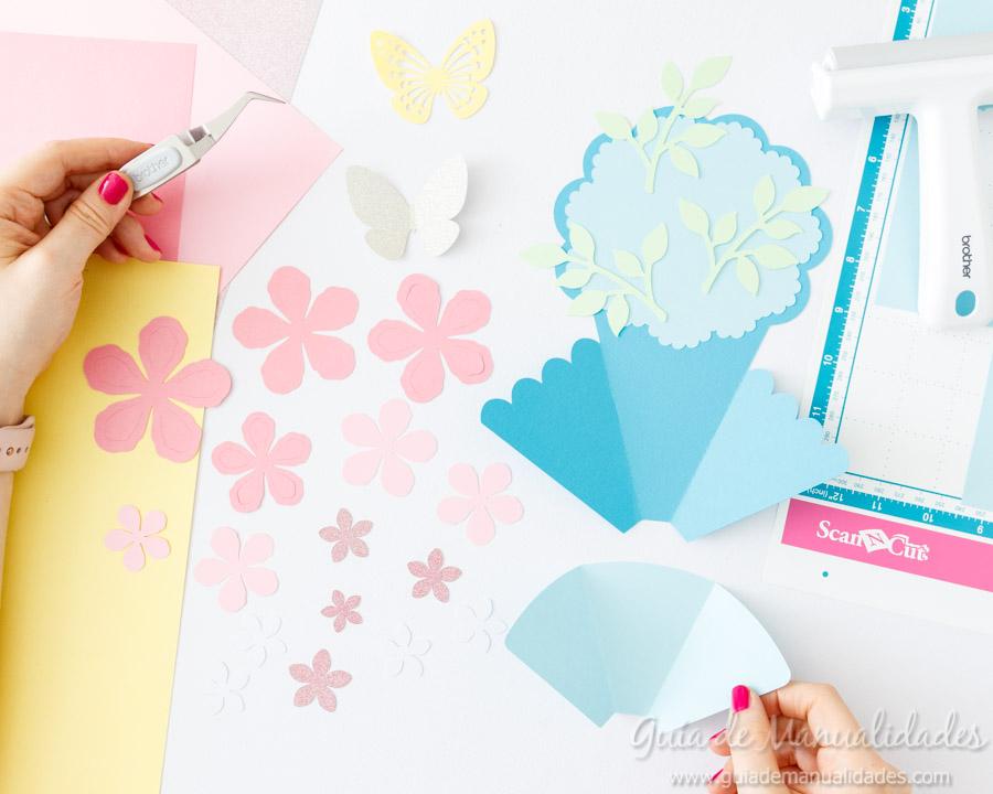 Tarjeta DIY ramo de flores 5