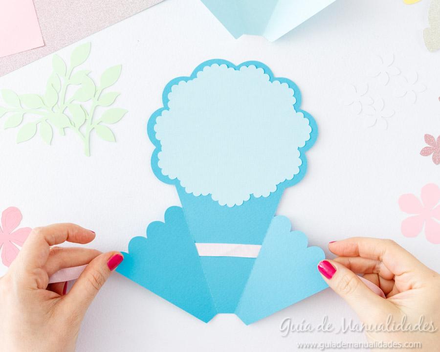Tarjeta DIY ramo de flores 7