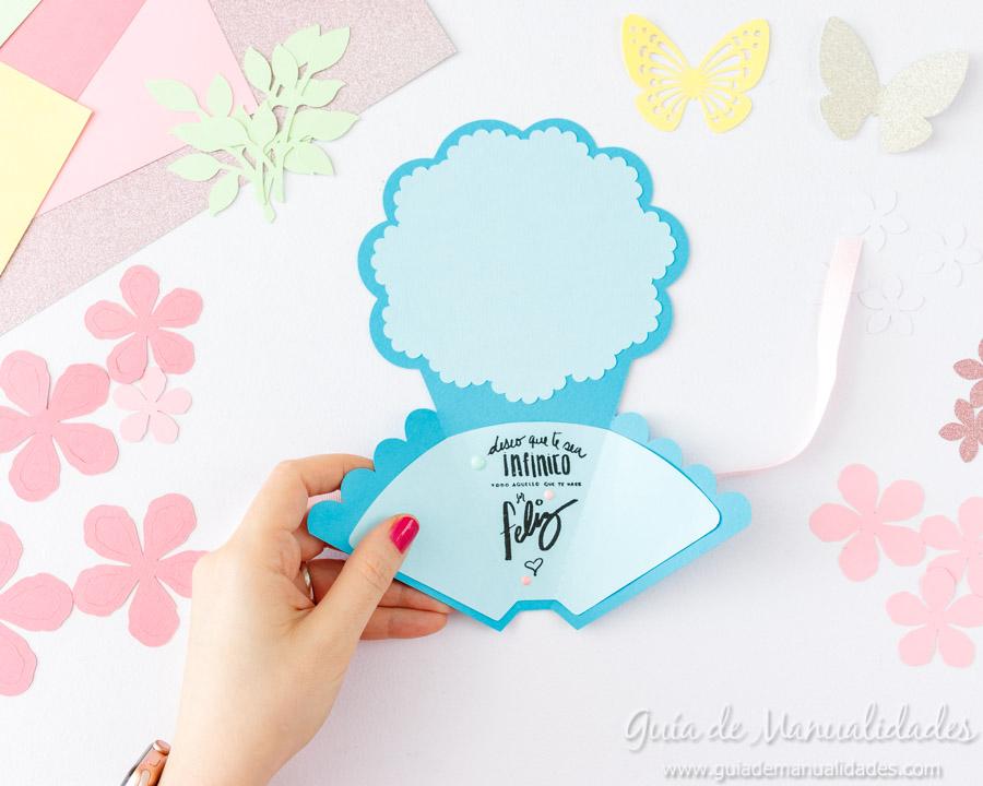 Tarjeta DIY ramo de flores 9