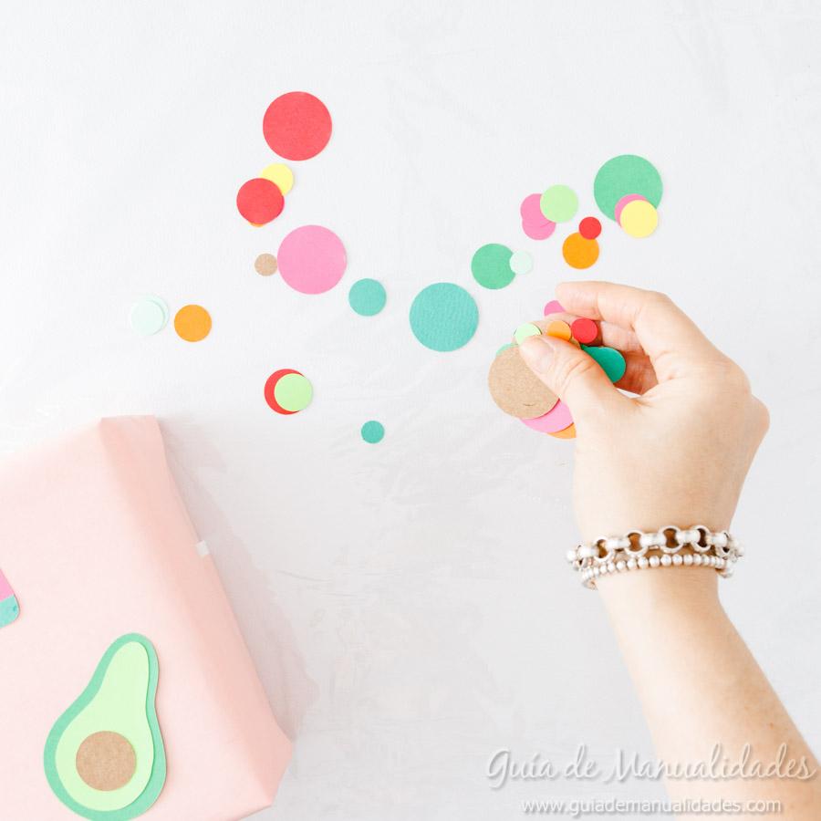 Frutas tropicales de papel para envolver regalos 10