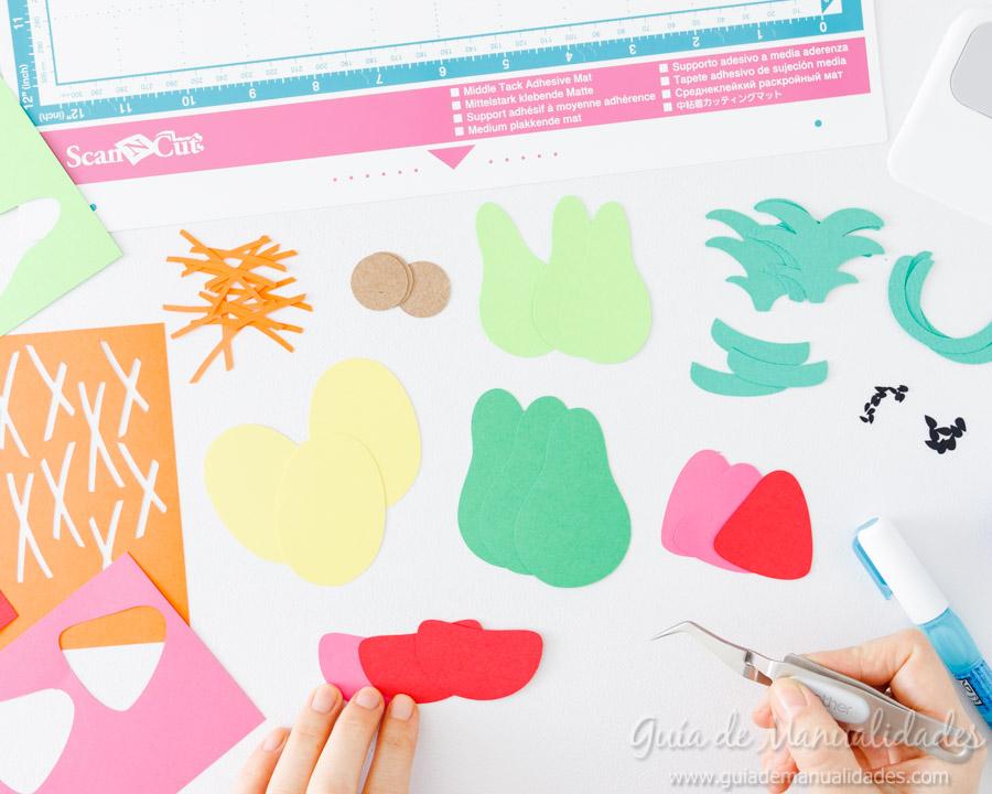 Frutas tropicales de papel para envolver regalos 4