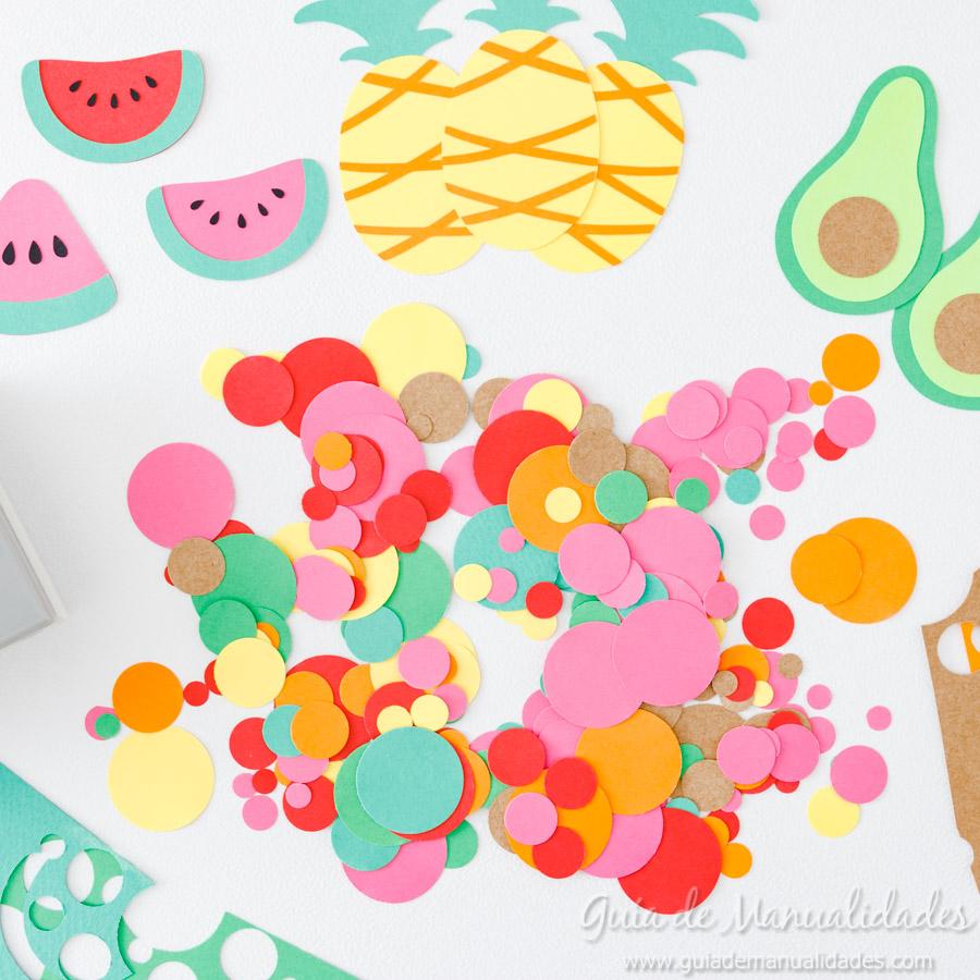 Frutas tropicales de papel para envolver regalos 8