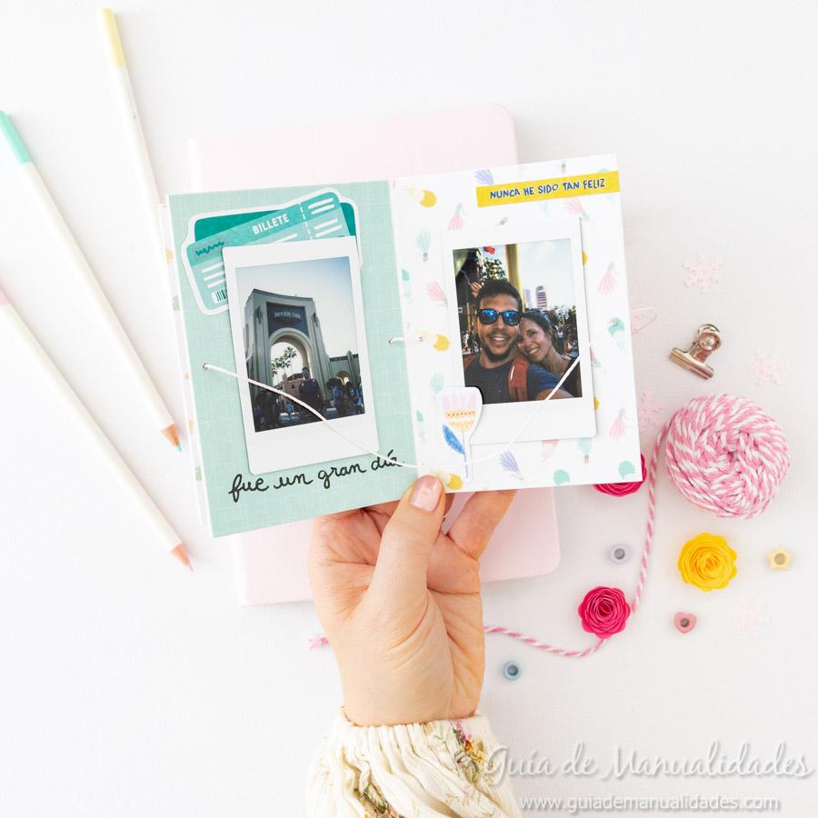 Tarjeta Mini Álbum con fotos para regalar 18