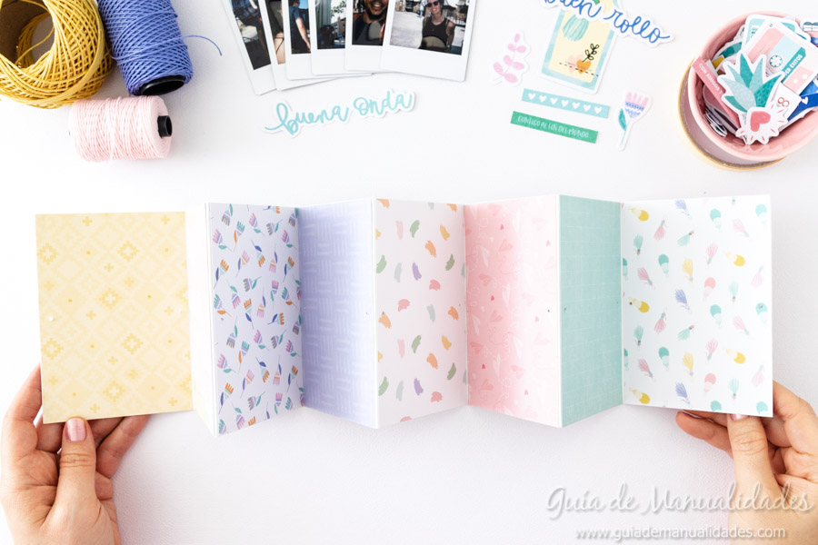 Tarjeta Mini Álbum con fotos para regalar 8