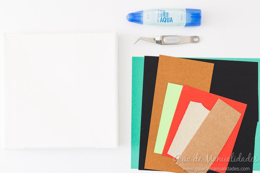 Cuadro DIY Jirafa de papel 2